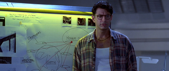 "Jeff Goldblum in ""Independence Day"""