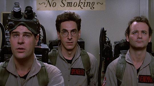 Harold Ramis (Mitte) neben seinen Geisterjäger-Kollegen