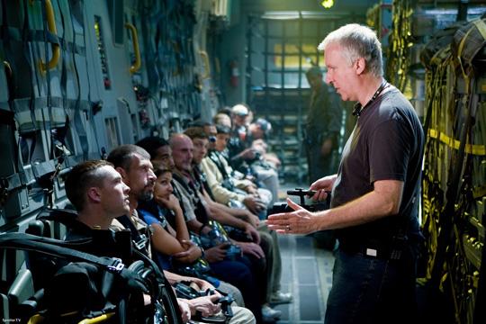 """James Cameron am Set zu """"Avatar"""""""