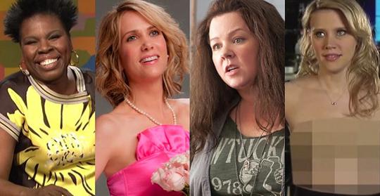 Von links nach rechts: Leslie Jones, Kristen Wiig, Melissa McCarthy und Kate McKinnon