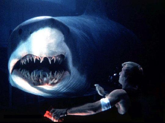 """Böse Überraschung aus der Tiefe: Hier in """"Deep Blue Sea"""""""