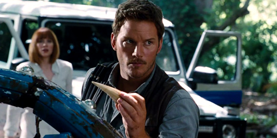 "Chris Pratt im kommenden ""Jurassic World"". ©Universal Pictures"