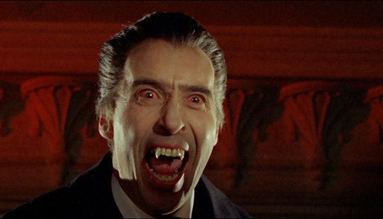 Christopher Lee in seiner Kultrolle als Dracula