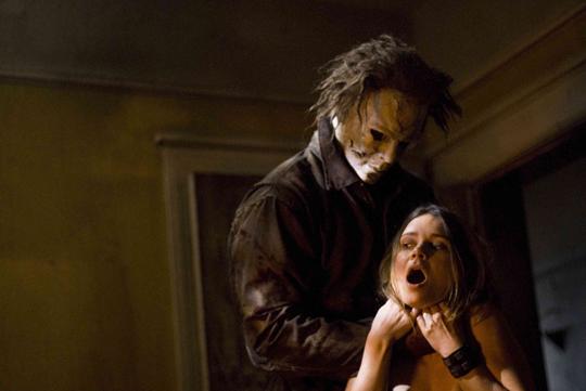 Tyler Mane (Michael Myers) and Kristina Klebe (Lynda) star in Rob Zombie's Halloween.