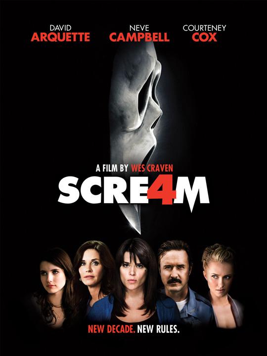 Bleibt wohl der letzte Kinoableger: Scream 4.
