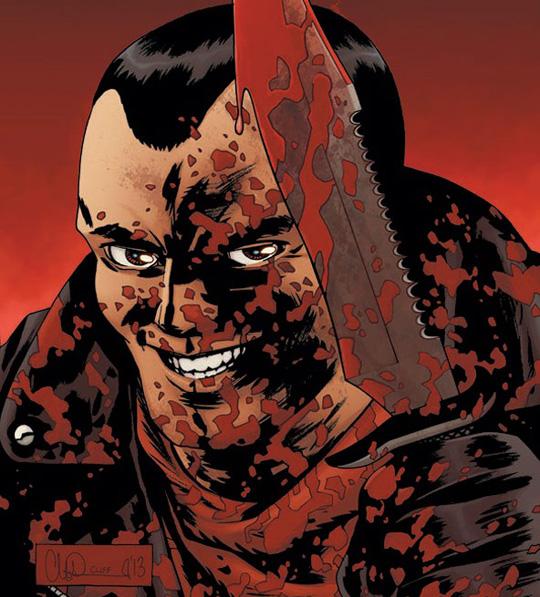 Negan, so wie er im Comic dargestellt wird. ©Charlie Adlard/Image Comics