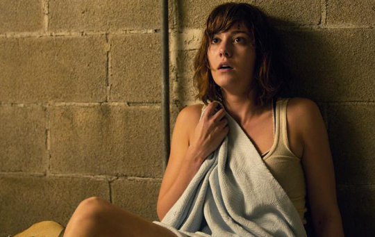 "This image released by Paramount Pictures shows Mary Elizabeth Winstead in a scene from ""10 Cloverfield Lane."" (Michele K. Short/Paramount Pictures via AP)"