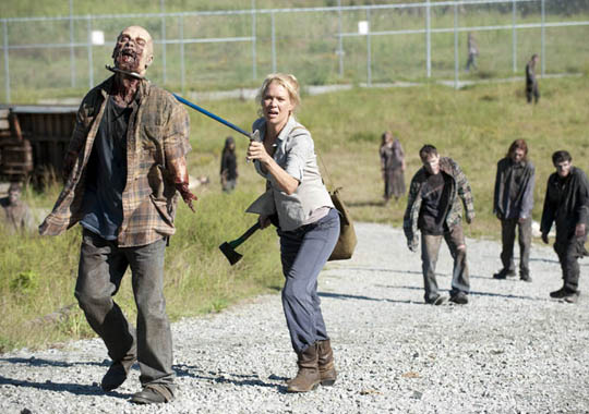 "Laurie Holden in der dritten Staffel zu ""The Walking Dead"""